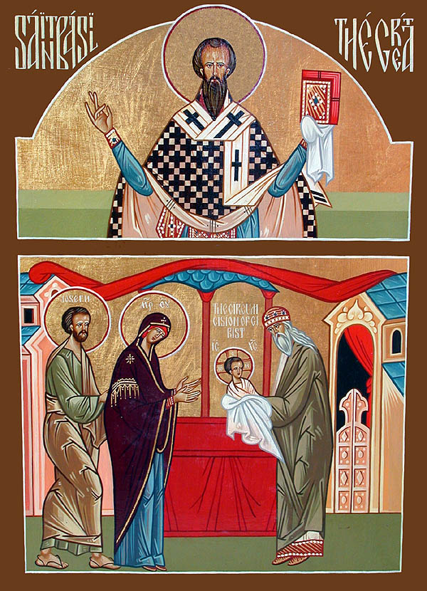 January 1, 2014 </br>The Circumcision of Our Lord, God and Saviour Jesus Christ </br>Our Father Among the Saints Basil the Great, Archbishop of Caesarea in Cappadocia (379) </br>Gregory of Nazianzis, father of Gregory the Theologian (374) </br>Holy Martyr Basil of Ankyra (322)