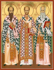 January 30, 2014 </br>Three Holy Hierarchs, Basil the Great, Gregory the Theologian, and John Chrysostom