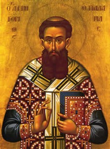 February 21, 2016 </br>Second Sunday of the Great Fast: St. Gregory of Palamas, Octoechos Tone 6; Our Venerable Father Timothy of Symbola (8th c.); Our Holy Father Eustathius, Archbishop of Great Antioch (338)