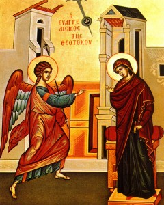 March 25, 2015 </br>Annunciation of the Most Holy Mother of God