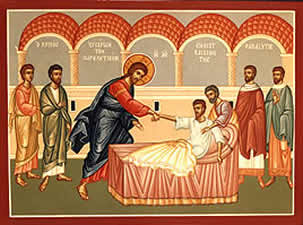 May 7, 2017 </br>Fourth Sunday of Pascha: Sunday of the Paralytic; Commemoration of the Appearance of the Sign of the Precious Cross over Jerusalem at the Third Hour of the Day during the Reign of Constantine (351); the Holy Martyr Acacius (286-305)