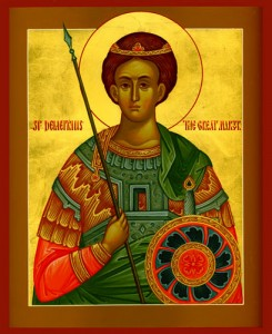 October 26, 2015 </br>Holy and Glorious Great-Martyr Demetrius; Commemoration of the Great and Terrible Earthquake at Constantinople in 741