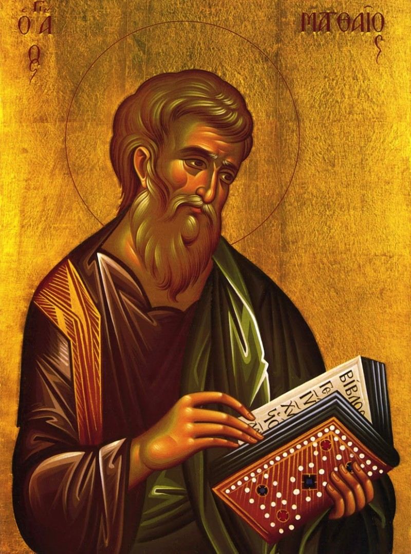 November 16, 2015 </br>The Holy Apostle and Evangelist Matthew