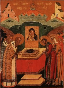 July 2, 2014 </br>The Placing of the Precious Robe of our Most Holy Lady and Mother of God in the Church at Blachernae in Constantinople