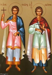August 18, 2013 </br>13th Sunday after Pentecost, Octoechos Tone 4 </br> Post-feast of the Dormition; Holy Martyrs Florus and Laurus
