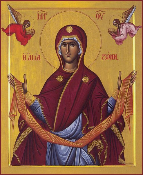 August 31, 2014 </br>Twelfth Sunday after Pentecost, Octoechos Tone 3 </br>The Placing of the Sash of our Most Holy Lady the Mother of God in Calcoprateia (942)