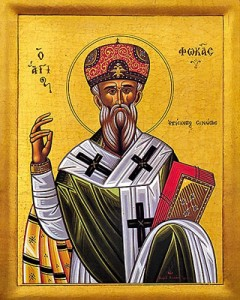 September 22, 2013 </br>18th Sunday after Pentecost, Octoechos Tone 1 </br>Holy Priest-Martyr Phocas, Bishop of Sinope (98-117); Holy Prophet Jonah (786-46 BC) </br>Venerable Jonah the Presbyter, Father of Theophanes, Composer of Canons </br>Theodore the Branded