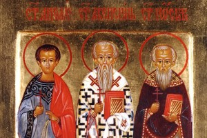 November 3, 2013 </br>24th Sunday after Pentecost, Octoechos Tone 7 </br>Holy Martyrs Acepsimas the Bishop (378), Joseph the Priest and Aithalis the Deacon (379)