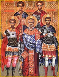 December 13, 2017 </br>The Holy Martyrs Eustratios, Auxentius, Eugenius, Mardarius and Orestes and the Holy Virgin Martyr Lucy