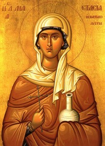 December 22, 2013 </br>Sunday of the Holy Fathers, Octoechos Tone 6 </br>Holy Great-Martyr Anastasia