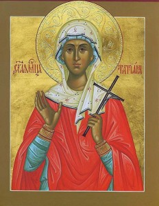 January 12, 2014 </br>Sunday after Theophany, Octoechos Tone 1 </br>Holy Martyr Tatiana the Deaconess