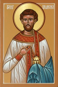 August 10, 2014 </br>Ninth Sunday after Pentecost, Tone 8 </br>Post-feast of the Transfiguration </br>Holy Martyr and Archdeacon Lawrence