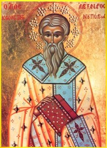 August 30, 2015 </br>Fourteenth Sunday After Pentecost, Octoechos Tone 5; Post-feast of the Beheading of John the Baptist; Our Holy Fathers and Patriarchs of Constantinople Alexander, John, and Paul the Younger