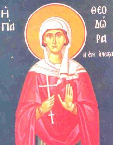 September 11, 2016 </br>Sunday before the Exaltation of the Cross, Octoechos Tone 8; Post-feast of the Nativity of the Mother of God; Our Venerable Mother Theodora of Alexandria
