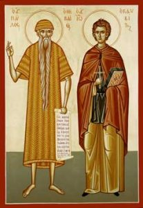 January 15, 2017 </br>35th Sunday after Pentecost, Octoechos Tone 2; Our Venerable Fathers Paul of Thebes (312-37) and John the Hut-Dweller (465-74)
