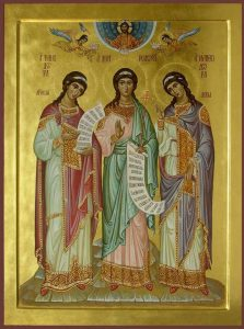 September 10, 2017 </br>Sunday before the Exaltation of the Cross; Octoechos Tone 5; Post-feast of the Nativity of the Mother of God; Holy Martyrs Menodora, Metrodora, Nymphodora