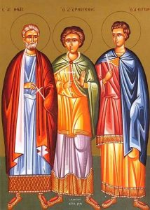 December 10, 2017 </br>Twenty-Seventh Sunday after Pentecost; Octoechos Tone 2; The Holy Martyrs Menas, Hermogenes and Eugraphus